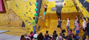 Challenge des élèves de l'école d'escalade